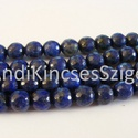 -Fazettált Lapisz Lazuli ásvány 8 mm,  12 db/ csomag, Gyöngy, ékszerkellék, Féldrágakő, Természetes Lapisz Lazuli ásvány.  Fazettált.   Méret: 8 mm Lyuk: 1 mm Szín: kék  Az ár 12 db / csom..., Alkotók boltja
