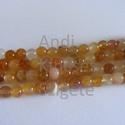 -Aventurin ásvány 6 mm, 15 db/ szál, terrmészetes  , Gyöngy, ékszerkellék, Féldrágakő, Természetes aventurin ásvány. Nem festett, nem színezett.  Méret: 6 mm Lyuk: 1 mm Színe: narancssárg..., Alkotók boltja