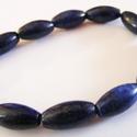 -10 db/cs. Lapisz lazuli ásvány , Gyöngy, ékszerkellék, Féldrágakő, Ékszerkészítés, Gyöngy, Rizs alakú természetes lápisz lazuli ásvány. Nem festett.  Méret: 16 x 8 mm Lyuk: 1 mm  Az ár 10 db..., Alkotók boltja