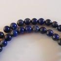 -30 db/cs. Lapisz lazuli ásvány 6 mm, Gyöngy, ékszerkellék, Féldrágakő, Természetes lápisz lazuli ásvány. Nem festett.  Méret: 6 mm Lyuk: 1 mm  Az ár 30 db / csomagra vonat..., Alkotók boltja