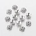 - 20 db/cs. 7 mm tibeti gyöngykupak , Gyöngy, ékszerkellék, Ezüst színű tibeti köztes. Ólommentes.  Méret: 7 x 4 mm Lyuk: 2 Szín: ezüst Mennyiség: 20 db / csoma..., Alkotók boltja
