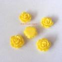 - 5 db gyanta rózsa cabochon 10 mm, R1, Gyöngy, ékszerkellék, Cabochon, Befoglalható, ragasztható gyanta rózsa cabochon.  Méret: 10 mm Ragasztható felület 6,5 mm  Egy csoma..., Alkotók boltja