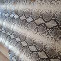 Marhabőr kígyó mintás python puha, Vegyes alapanyag, Egyéb alapanyag, Bőrművesség, Varrás, Bőr, Marhabőr kígyó mintás python puha  Tábla mérete: 1.09 M2  Bármihez használható, táska apró áru ruha..., Alkotók boltja