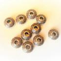 Ezüst színű köztes / diszítőelem / gyöngy (3), Gyöngy, ékszerkellék, Fém köztesek, Köztes - ezüst színű 6*13mm nagyságú  Az ár 10db-ra vonatkozik, Alkotók boltja