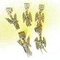 Arkangyal medálok, Gyöngy, ékszerkellék, Fém köztesek, Az ár 5különböző arkangyal medálra vonatkozik.  Mihály,Uriel,Gabriel,Sámuel és Sadkiel arka..., Alkotók boltja