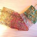 ajándékzacskók, Textil, Anyagcsomag, 9*6,5 mm-es ajándékzacskó szett (6 darabos) a képen látható színekben, Alkotók boltja