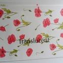 Transzparens papír csomag, Dekorációs kellékek, Papír, Mindenmás, Papírművészet, VÉGKIÁRUSÍTÁS !!!  5 db A/4-es méretű vastag (120 g/m2 ) transzparens papír pipacs mintával. Haszná..., Alkotók boltja