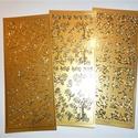Konturmatrica készlet arany, Dekorációs kellékek, Papír, Mindenmás, Papírművészet, VÉGKIÁRUSÍTÁS !!!  3 db kontúrmatrica készlet szív és inda mintákkal. Használható képeslapokhoz , a..., Alkotók boltja