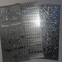 Konturmatrica készlet ezüst, Dekorációs kellékek, Papír, Mindenmás, Papírművészet, VÉGKIÁRUSÍTÁS !!!  3 db kontúrmatrica készlet születésnapos , szives  mintákkal. Használható képesl..., Alkotók boltja