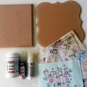 Decoupage csomag  III, Díszíthető tárgyak, Fa, Mindenmás, Papírművészet, Decoupage, szalvétatechnika, VÉGKIÁRUSÍTÁS !!!  Kreatív csomag decoupage technikához  Tartalma: -MDF lap mintás 16x16 cm  -MDF l..., Alkotók boltja