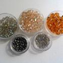 Csiszolt gyöngy csomag I., Gyöngy, ékszerkellék, Ékszerkészítés, Gyöngy, Kiárusítás !!!  Csiszolt gyöngyökből álló csomag. Tartalma: -20 db 8mm-es bicon méz színben -50 db ..., Alkotók boltja