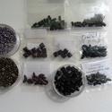 Gyöngy csomag II., Gyöngy, ékszerkellék, Ékszerkészítés, Gyöngy, Kiárusítás !!!  Cseh gyöngyökből álló csomag. Tartalma: -Crescent gyöngy kék és lila színben(30 db ..., Alkotók boltja