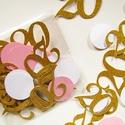 Évfordulós születésnapi konfetti, dekoráció, Dekorációs kellékek, Papír, Mindenmás, Évfordulós, születésnapi konfetti.... Remek kiegészítője az ünnepi dekorációnak... Kiszerelés:1 cso..., Alkotók boltja
