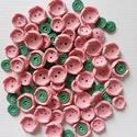 Rózsaszín-zöld gombok, Gomb, Műanyag gomb, Varrás, Gomb, 100 db rózsaszín és zöld színű műanyag gomb.  Méret:10-20 mm  Ára: 800 Ft / 100 db, Alkotók boltja