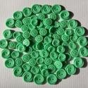 Almazöld gombok, Gomb, Műanyag gomb, Varrás, Gomb, 90 db almazöld színű műanyag gomb.  Méret:14-18 mm  Ára: 1000 Ft / 90 db, Alkotók boltja