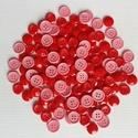 130 db piros és rózsaszín gomb, Gomb, Műanyag gomb, Varrás, Gomb, 130 db piros és rózsaszín műanyag gomb.  Méret:13-15 mm  Ára: 1000 Ft / 130 db, Alkotók boltja