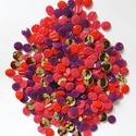 AKCIÓ! Vegyes gombcsomag, Gomb, Műanyag gomb, Varrás, Gomb, 300 db műanyag gomb pink, piros, lila és arany színekben  Méret:12-15 mm  Ára: 1405 Ft / 300 db, Alkotók boltja