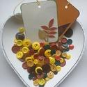 Őszi gombcsomag, Gomb, Műanyag gomb, A csomag tartalmaz 100 db műanyag gombot sárga, piros, barna és zöld színekben + 2 db ajándék..., Alkotók boltja