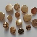 Arany gombok (2.sz.), Gomb, Fém gomb, 14 db arany színű gomb  10-20 mm  1000,-Ft / csomag, Alkotók boltja