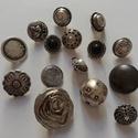 Ezüst gombok (1.sz.), Gomb, Fém gomb, 15 db ezüst színű gomb  10-20 mm  1150,-Ft / csomag, Alkotók boltja