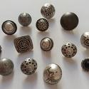 Ezüst gombok (3.sz.), Gomb, Fém gomb, 14 db ezüst színű gomb  10-20 mm  1150,-Ft / csomag, Alkotók boltja