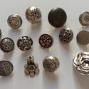 Ezüst gombok (4.sz.), Gomb, Fém gomb, 14 db ezüst színű gomb  10-20 mm  1150,-Ft / csomag, Alkotók boltja