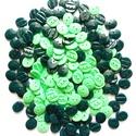 Zöld színű gombok, Gomb, Műanyag gomb, 200 db ovális almazöld és sötétzöld színű gombok 15 mm széles  1200,- Ft / csomag, Alkotók boltja