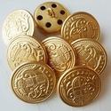 Címeres arany színű gombok, Gomb, Fém gomb, Varrás, Gomb, 8 db arany színű gomb  méret: 20 mm  ár: 1600,- Ft / 8 db, Alkotók boltja