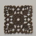 Antik bronz színű medálalap, Dekorációs kellékek, Gyöngy, ékszerkellék, Antik bronz színű medálalap.  Mérete:31x31 mm Felhasználási lehetőségek korlátlanok:medál ..., Alkotók boltja