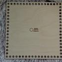 Négyzet 20 cm-es horgolható fa alap - Wood Stitch Collection, Fa, Rétegelt lemez, fa alap, Kötés, horgolás, Saját ötlet és fejlesztés alapján gyártott horgolható fa alap.  Festhető, lazúrozható, pácolható, a..., Alkotók boltja