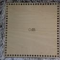 Négyzet 25 cm-es horgolható fa alap - Wood Stitch Collection, Fa, Rétegelt lemez, fa alap, Kötés, horgolás, Saját ötlet és fejlesztés alapján gyártott horgolható fa alap.  Festhető, lazúrozható, pácolható, a..., Alkotók boltja