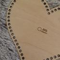 Szív 25 cm-es horgolható fa alap - Wood Stitch Collection, Fa, Rétegelt lemez, fa alap, Alkotók boltja
