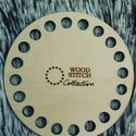 Kör 8,5 cm-es horgolható fa alap - Wood Stitch Collection, Fa, Rétegelt lemez, fa alap, Kötés, horgolás, Megérkezett a Wood Stitch Collection legkisebb darabja. Ideális, ha csak valami apróságot szeretnél..., Alkotók boltja