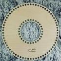 Fánk 25 cm-es horgolható fa alap - Wood Stitch Collection, Fa, Rétegelt lemez, fa alap, Kötés, horgolás, Megérkezett a Wood Stitch Collection legérdekesebb darabja. Ez a fánk alakú horgolható fa alap szám..., Alkotók boltja