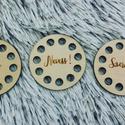Élj!, Nevess! Szeress! mágnes szett - horgolható fa alap szett  - Wood Stitch Collection, Fa, Rétegelt lemez, fa alap, Kötés, horgolás, Megérkeztek a Wood Stitch Collection téli újdonságai!  3 darabos hűtőmágnes szett Élj!, Nevess!, Sz..., Alkotók boltja