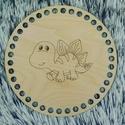 Dínós - Kör 15 cm-es horgolható fa alap - Wood Stitch Collection, Fa, Rétegelt lemez, fa alap, Kötés, horgolás, Saját ötlet és fejlesztés alapján gyártott horgolható fa alap.  Festhető, lazúrozható, pácolható, a..., Alkotók boltja