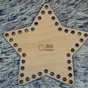 csillag 15 cm-es horgolható fa alap - Wood Stitch Collection, Fa, Rétegelt lemez, fa alap, Kötés, horgolás, Saját ötlet és fejlesztés alapján gyártott horgolható fa alap.  Festhető, lazúrozható, pácolható, a..., Alkotók boltja