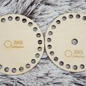 2 db-os kis kreatív szett - horgolható fa alap - Wood Stitch Collection, Fa, Rétegelt lemez, fa alap, Kötés, horgolás, Saját ötlet és fejlesztés alapján gyártott horgolható fa alap, mely használható síkban és térben va..., Alkotók boltja