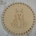 Nyuszis kör 15 cm-es horgolható fa alap - Wood Stitch Collection, Fa, Rétegelt lemez, fa alap, Kötés, horgolás, Saját ötlet és fejlesztés alapján gyártott horgolható fa alap.  Festhető, lazúrozható, pácolható, a..., Alkotók boltja