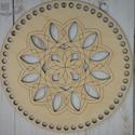 Mandala mintás áttört kör 20 cm-es horgolható fa alap - Wood Stitch Collection, Fa, Rétegelt lemez, fa alap, Kötés, horgolás, Saját ötlet és fejlesztés alapján gyártott horgolható fa alap.  Festhető, lazúrozható, pácolható, a..., Alkotók boltja