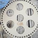 Multi-hole kör 20 cm-es horgolható fa alap - Wood Stitch Collection, Fa, Rétegelt lemez, fa alap, Kötés, horgolás, Saját ötlet és fejlesztés alapján gyártott horgolható fa alap.  Festhető, lazúrozható, pácolható, a..., Alkotók boltja