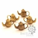 5 db Antikolt bronz színű teáskanna függő dísz Nikkelmentes, Antikolt bronz színű teáskanna függő dísz Az...