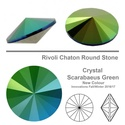Swarovski Round Stone- Scarabgre-F 8mm - 1122 SS 39, Gyöngy, ékszerkellék, Swarovski kristályok, Ékszerkészítés, Gyöngy, Swarovski chaton  Használhatod ékszerkészítéshez, befoglaláshoz, vagy egy kúpos fülbevaló alapba be..., Alkotók boltja