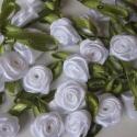 Selyem rózsák 6 darab M241, Gyöngy, ékszerkellék, Fém köztesek, Az ár 6 darabra vonatkozik., Alkotók boltja