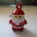 Télapó csengő, Gyöngy, ékszerkellék, Figurális gyöngyök, Aprócska, 2 cm-es csengő, karácsonyi díszítésre alkalmazható., Alkotók boltja