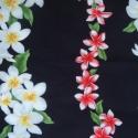 Pluméria virágos hawaii textil, Textil, Anyagcsomag, Szélesség 114 cm Hosszúság 93 cm., Alkotók boltja