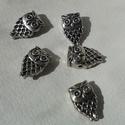 Bagoly gyöngy, Bagoly tibeti ezüst színű gyöngyök. Méret: 9...