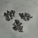 Négylevelű lóhere medál, Tibeti ezüst színű medálok. Méret: 16*10 mm 1...