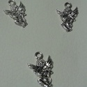 Angyalka medál, Gyöngy, ékszerkellék, Egyéb alkatrész, Tibeti ezüst színű medálok. Méret: 10*20 mm 1 csomag 3 db-ból áll., Alkotók boltja