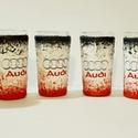 Audi röviditalos pohárszett rajongói ajándék., Otthon & lakás, Férfiaknak, Sör, bor, pálinka, Legénylakás, Decoupage, transzfer és szalvétatechnika, Audi röviditalos pohárszet rajongói ajándék.  A poharak űrtartalma: 30-50 ml  Audi rajongó család k..., Meska